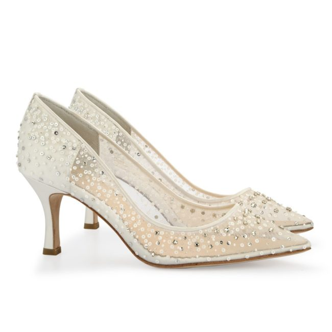 Bella Belle Shoes Evelyn, Wedding shoes, comfortable wedding shoes, pretty wedding shoes, pretty shoes, ivory wedding shoes, low heel wedding shoes, sequin wedding shoes, ivory wedding shoes, beaded wedding shoes