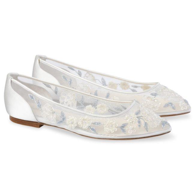 Bella Belle Shoes Fiona, Wedding shoes, comfortable wedding shoes, pretty wedding shoes, pretty shoes, ivory wedding shoes, flat wedding shoes, something blue, wedding shoe flats, pretty flat wedding shoes, beaded wedding flats