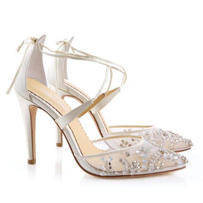 Bella Belle Shoes Florence, Wedding shoes, comfortable wedding shoes, pretty wedding shoes, pretty shoes, ivory wedding shoes, high heel wedding shoes, embellished wedding shoes, evening shoes, occasion shoes
