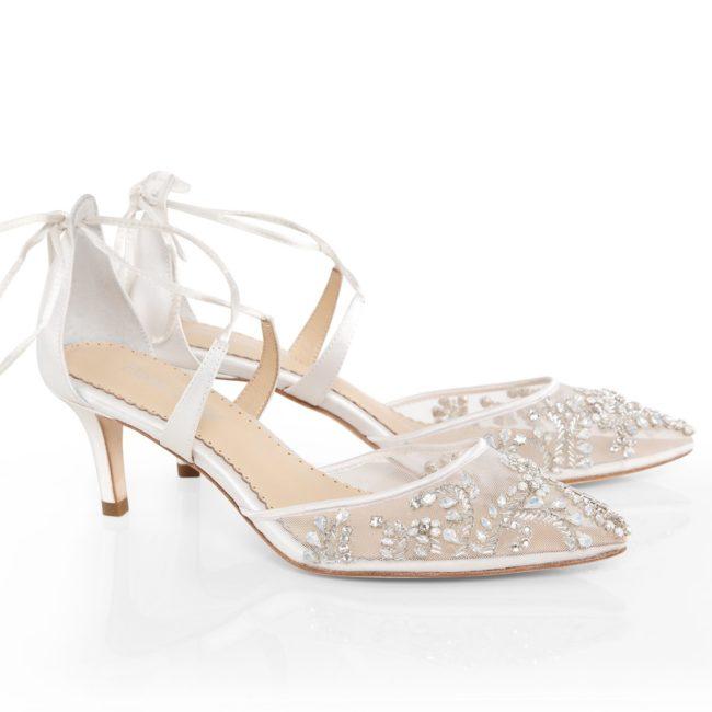 Bella Belle Shoes Frances, Wedding shoes, comfortable wedding shoes, pretty wedding shoes, pretty shoes, ivory wedding shoes, low heel wedding shoes, kitten heel shoes, kitten heel wedding shoes, embellished wedding shoes, evening shoes, occasion shoes