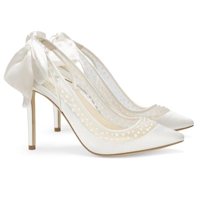 Bella Belle Shoes Gabrielle, Wedding shoes, comfortable wedding shoes, pretty wedding shoes, pretty shoes, ivory wedding shoes, high heel wedding shoes, closed toe wedding shoes, pearl wedding shoes