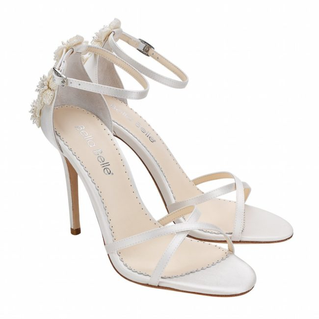 Bella Belle Shoes Gardenia, Wedding shoes, comfortable wedding shoes, pretty wedding shoes, pretty shoes, ivory wedding shoes, wedding sandals, wedding high heels, strappy wedding shoes, wedding stilettos, ivory wedding shoes, modern wedding shoes