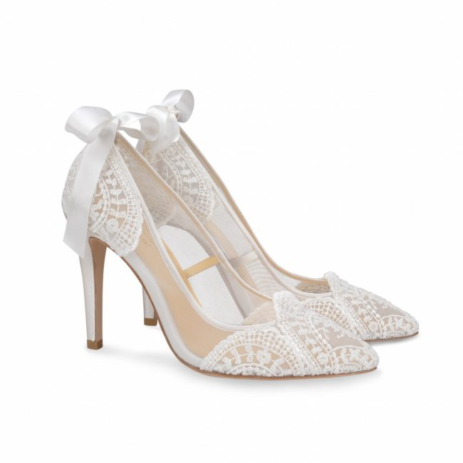 Bella Belle Shoes Giselle, Wedding shoes, comfortable wedding shoes, pretty wedding shoes, pretty shoes, ivory wedding shoes, lace wedding shoes, high heel wedding shoes, closed toe wedding shoes