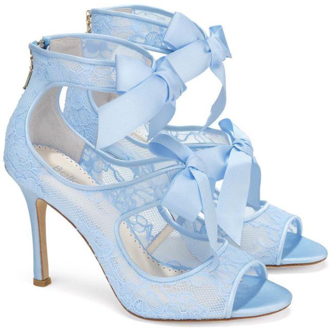 Bella Belle Shoes Jane Blue, wedding shoes, blue wedding shoes, beautiful wedding shoes, modern wedding shoes, designer wedding shoes, lace wedding shoes