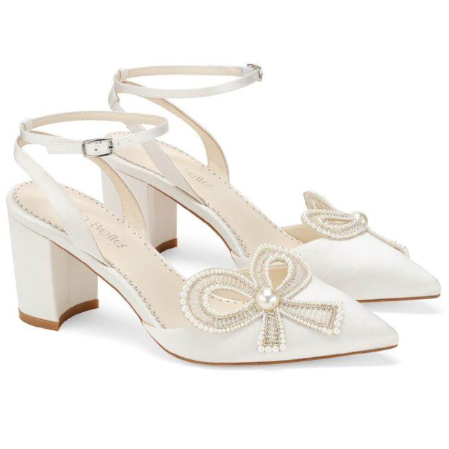 Bella Belle Shoes Kayla, wedding shoes, ivory wedding shoes, beautiful wedding shoes, modern wedding shoes, designer wedding shoes