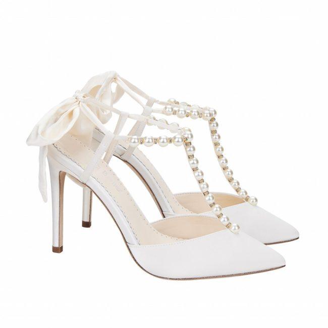 Bella Belle Shoes Lisbeth, Wedding shoes, comfortable wedding shoes, pretty wedding shoes, pretty shoes, ivory wedding shoes, satin wedding shoes, high heel wedding shoes, high heels, pearl shoes, pearl wedding shoes