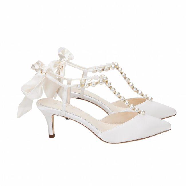 Bella Belle Shoes Lucia, Wedding shoes, comfortable wedding shoes, pretty wedding shoes, pretty shoes, ivory wedding shoes, satin wedding shoes, low heel wedding shoes, pearl wedding shoes