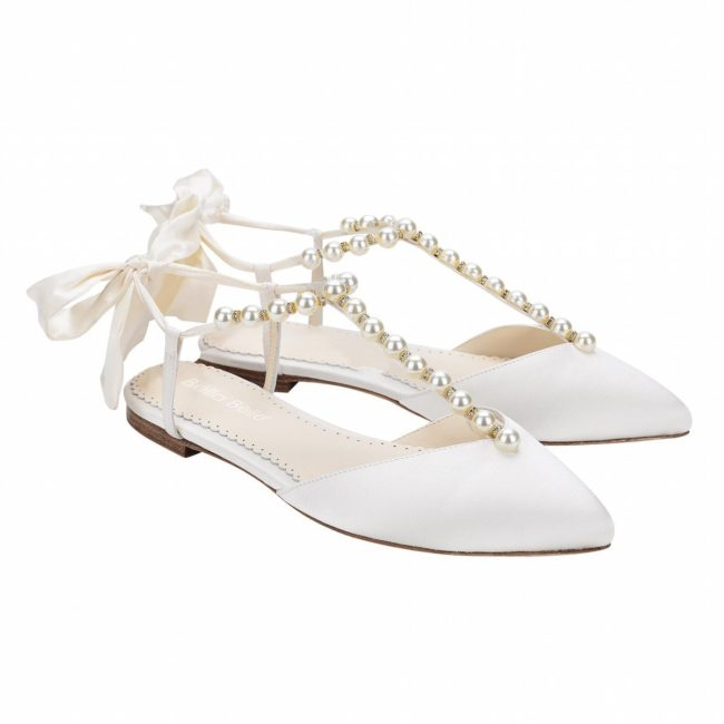 Bella Belle Shoes Lulu, Wedding shoes, comfortable wedding shoes, pretty wedding shoes, pretty shoes, ivory wedding shoes, satin wedding shoes, wedding flats, flat wedding shoes, pearl wedding shoes, pretty wedding flats