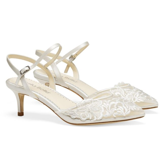 Bella Belle Shoes Mina, Wedding shoes, comfortable wedding shoes, pretty wedding shoes, pretty shoes, ivory wedding shoes, low heel wedding shoes, kitten heels, kitten heel kitten shoes