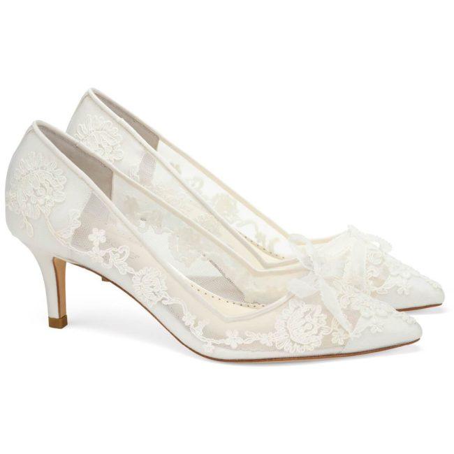 Bella Belle Shoes Monica, wedding shoes, ivory wedding shoes, beautiful wedding shoes, modern wedding shoes, designer wedding shoes, lace wedding shoes