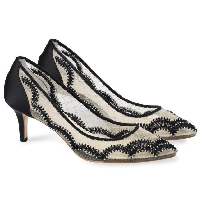 Bella Belle Shoes Nicole, Wedding shoes, comfortable wedding shoes, pretty wedding shoes, pretty shoes, black wedding shoes, black shoes, black evening shoes, occasion shoes