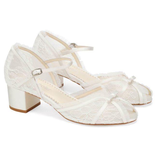 Bella Belle Shoes Octavia, wedding shoes, ivory wedding shoes, beautiful wedding shoes, modern wedding shoes, designer wedding shoes, wedding block heels