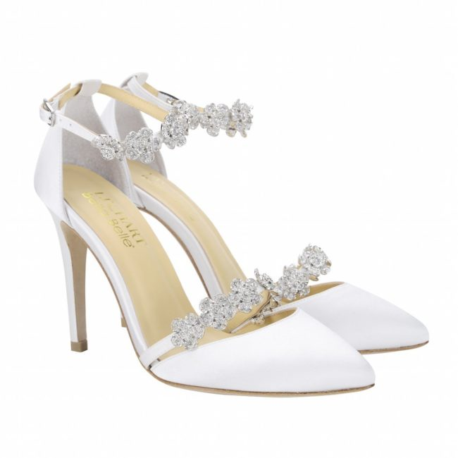 Bella Belle Shoes Olivia, Wedding shoes, comfortable wedding shoes, pretty wedding shoes, pretty shoes, ivory wedding shoes, high heel shoes, satin wedding shoes, modern wedding shoes
