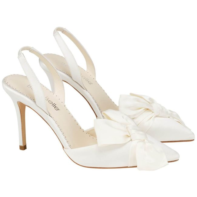 Bella Belle Shoes Reese, wedding shoes, ivory wedding shoes, beautiful wedding shoes, modern wedding shoes, designer wedding shoes, silk wedding shoes