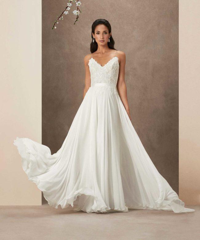 Caroline Castigliano Sakura, wedding dress, a-line wedding dress