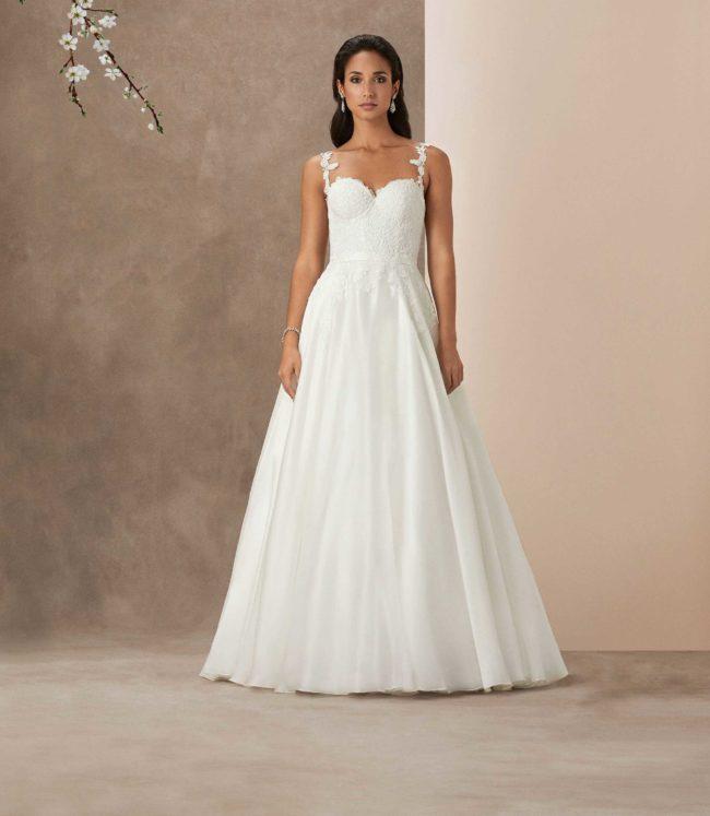 Caroline Castigliano Santa Barbara, wedding dress, a-line wedding dress
