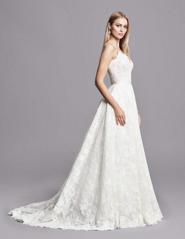 Caroline Castigliano Tulisa, Wedding Dress, lace a-line wedding dress