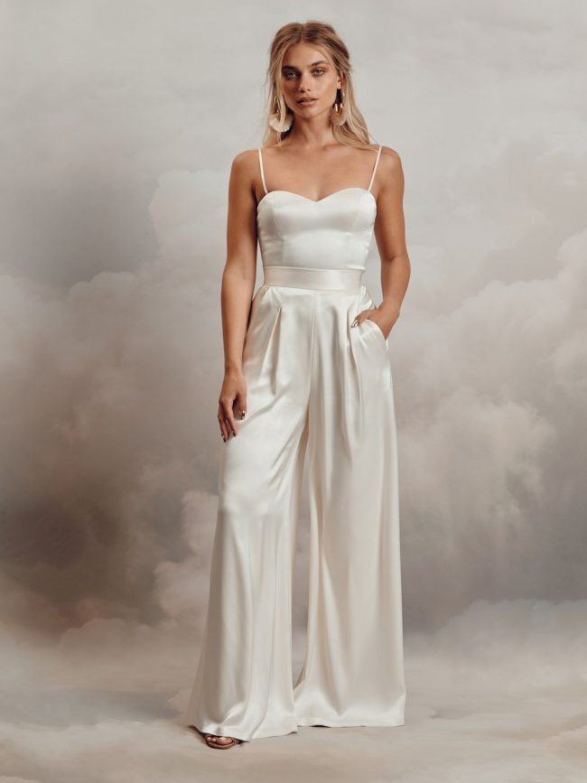 Catherine Deane Darla Bodice and Aurelia Trousers, bridal separates, bridal two-piece