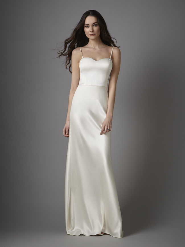 Catherine Deane Gina, wedding dress, fitted wedding dress, plain wedding dress