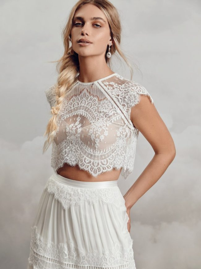 Catherine Deane Itala Top, bridal separates, bridal two piece