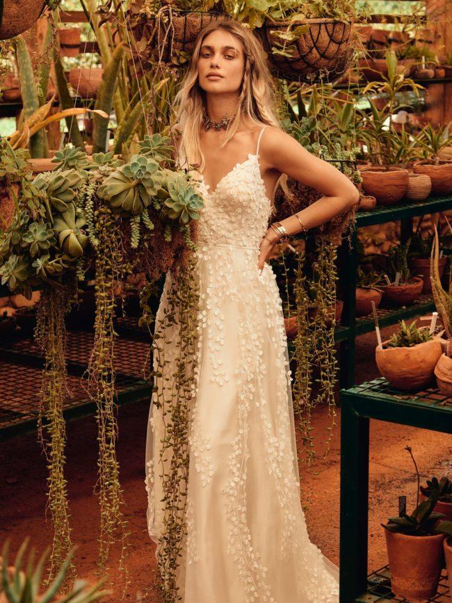 Catherine Deane Reagan, catherine deane wedding dress, boho wedding dress, lace wedding dress, beach wedding dress, modern wedding dress, a-line wedding dress, flowy wedding dress
