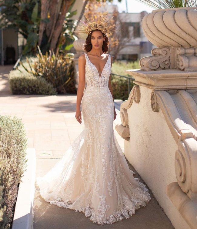 Moonlight Couture H1448, wedding dress, sexy wedding dress, fitted wedding dress, lace wedding dress, moonlight bridal wedding dress, sexy wedding dress