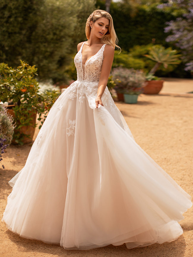 Moonlight J6778, ball gown wedding dress, glitter tulle skirt, blush ball gown wedding dress, princess wedding dress, glitter wedding dress, moonlight bridal wedding dress