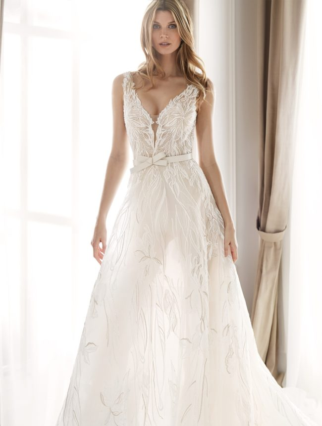 Nicole Milano NIA20401, wedding dress, a-line wedding dress, lace wedding dress