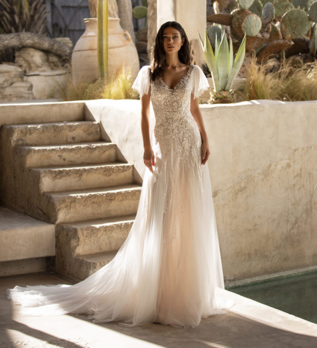 Pronovias Lake, wedding dress, a-line wedding dress