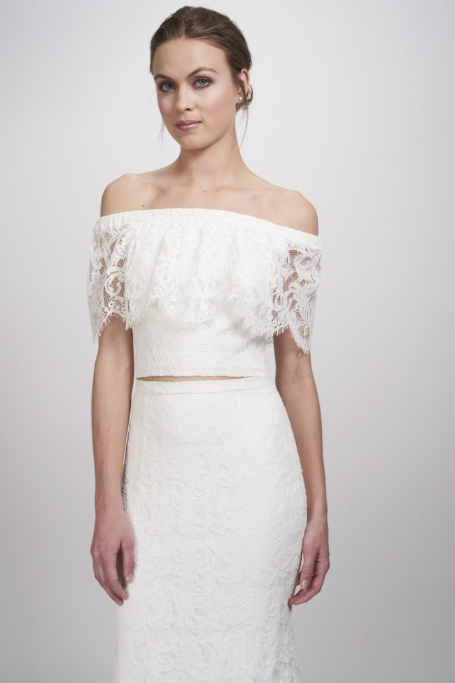 Theia Lanie Top, bridal separates, bridal two piece