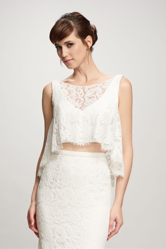 Theia Poppy Top, bridal separates, bridal two piece