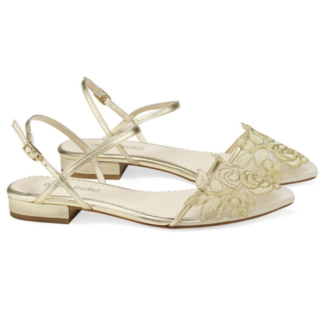 Bella belle shoes gold flower embroidered lace wedding flat shirley gold 1200x1200 SHIRLEY