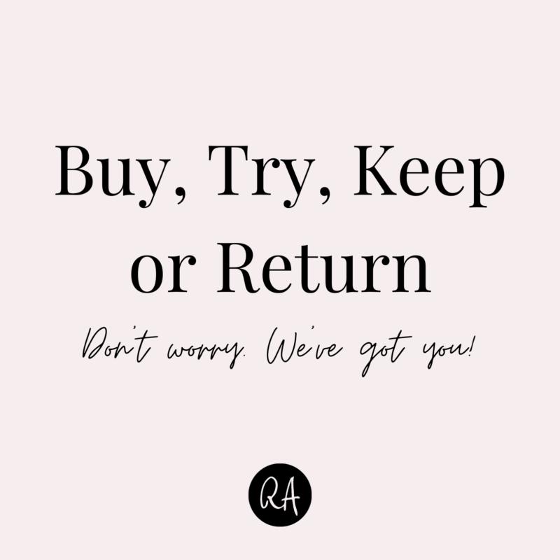 Buy Try Keep or Return Insta Post